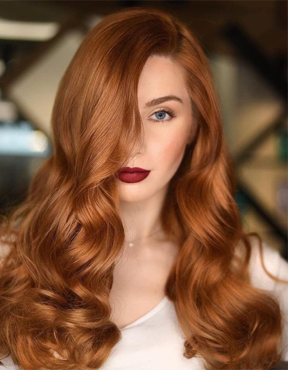 Smartest Look of Red Hair Color Highlights In 2020