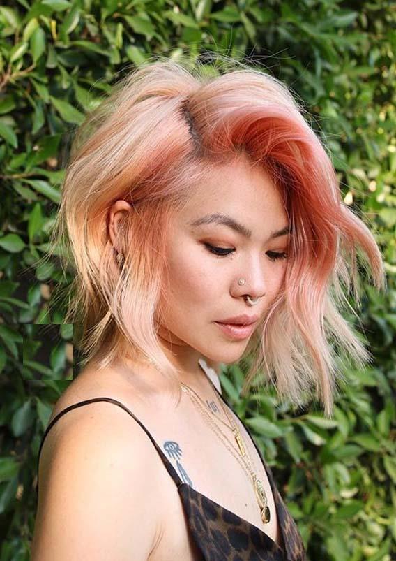 Gorgeous Peach Hair Colors For Short Hair Women In 2020
