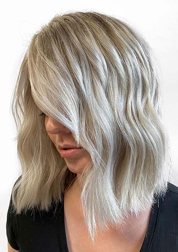 Modern Shades Of Ice Blonde Hair Colors for Ladies in 2020