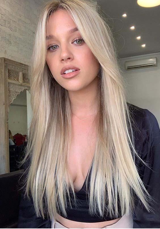 Blonde Hair Colors for Long Sleek Hairstyles for Ladies in 2020