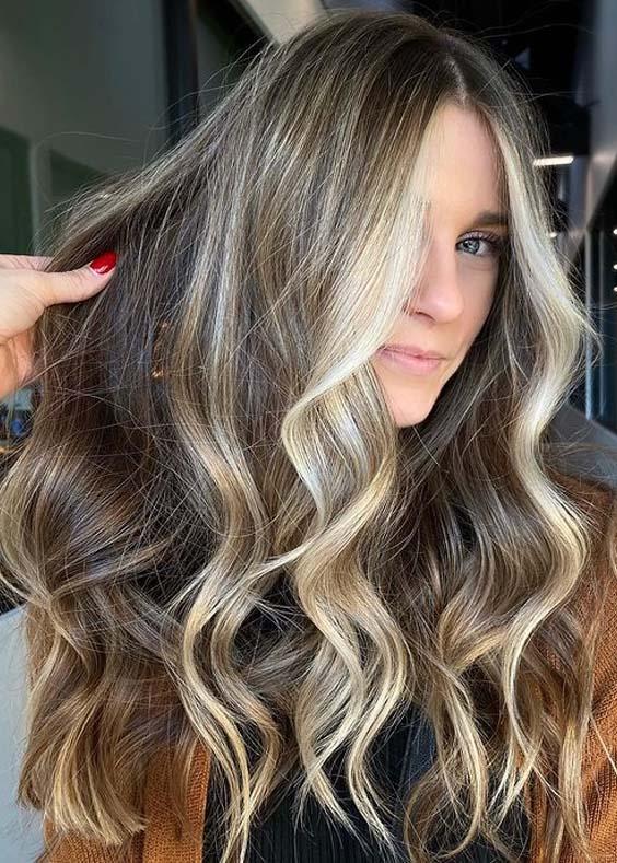 Fresh Balayage Hair Colors Contrasts