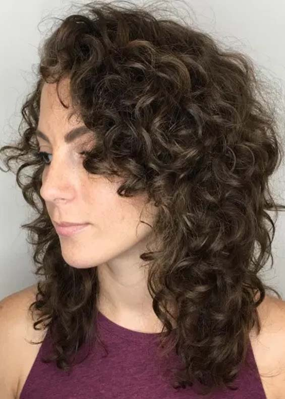 Curly Medium Hairstyles With Layers