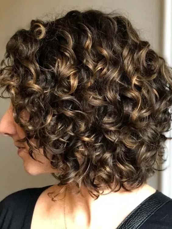 Curly with dye Bob Hairstyle
