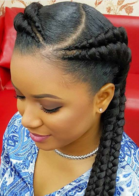 Double Feed In Braid Hairstyles