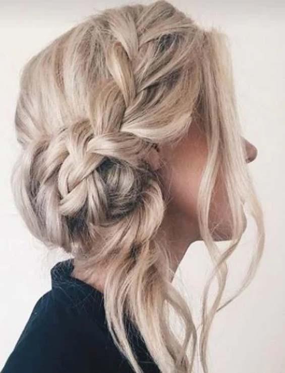 Side Bun Updo Hairstyles