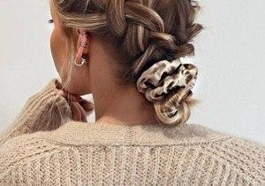 Sleek Braided Bun Hair