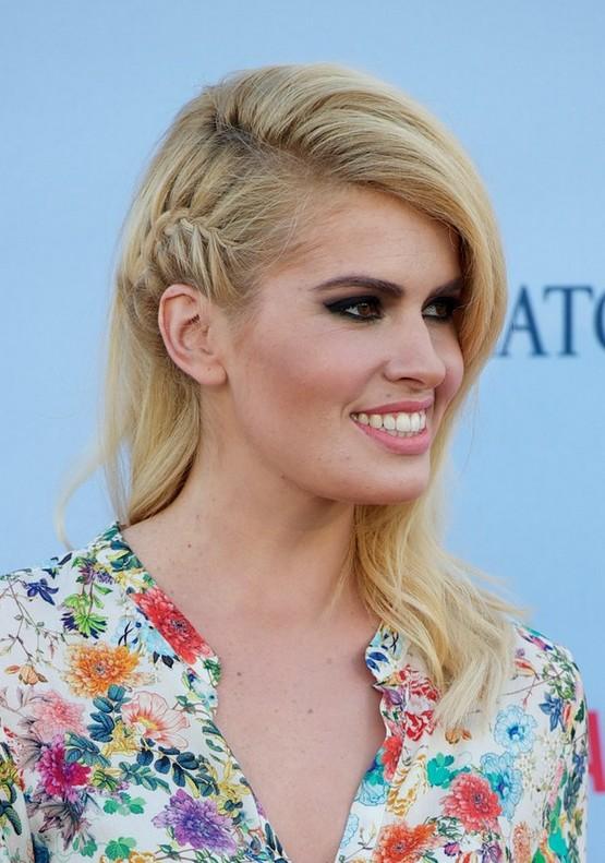 Adriana Abenia Side French Braid For Long Blonde Hair