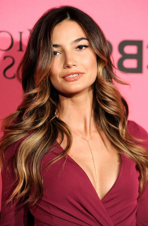 Lily Aldridge SExy Ombre Hair For Square Faces Styles Weekly