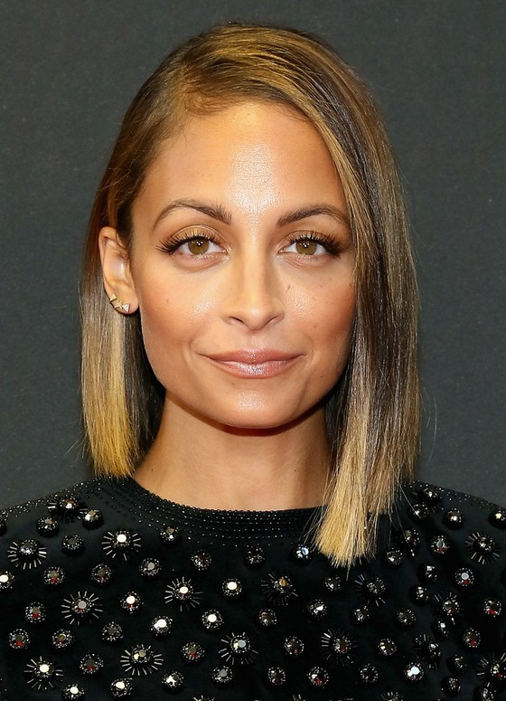 Nicole Richie Asymmetrical Bob Hairstyle Styles Weekly