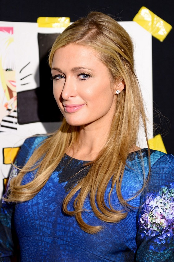 Paris Hilton Half Up Half Down Hairstyle For Thin Hair