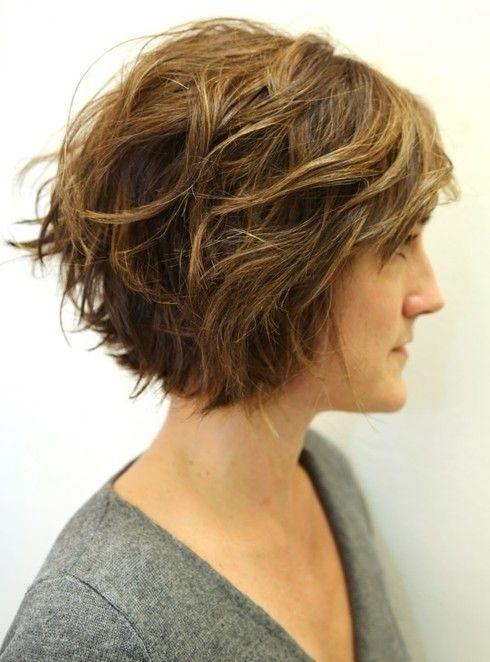 Short Wavy Layered Bob Haircuts