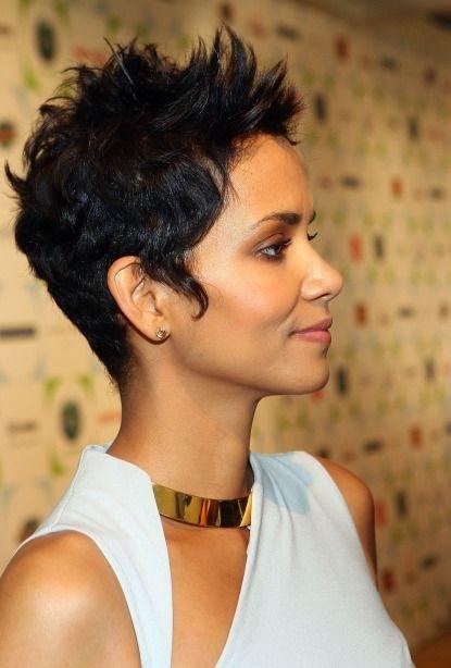 Short Spiky Haircut for Black Women