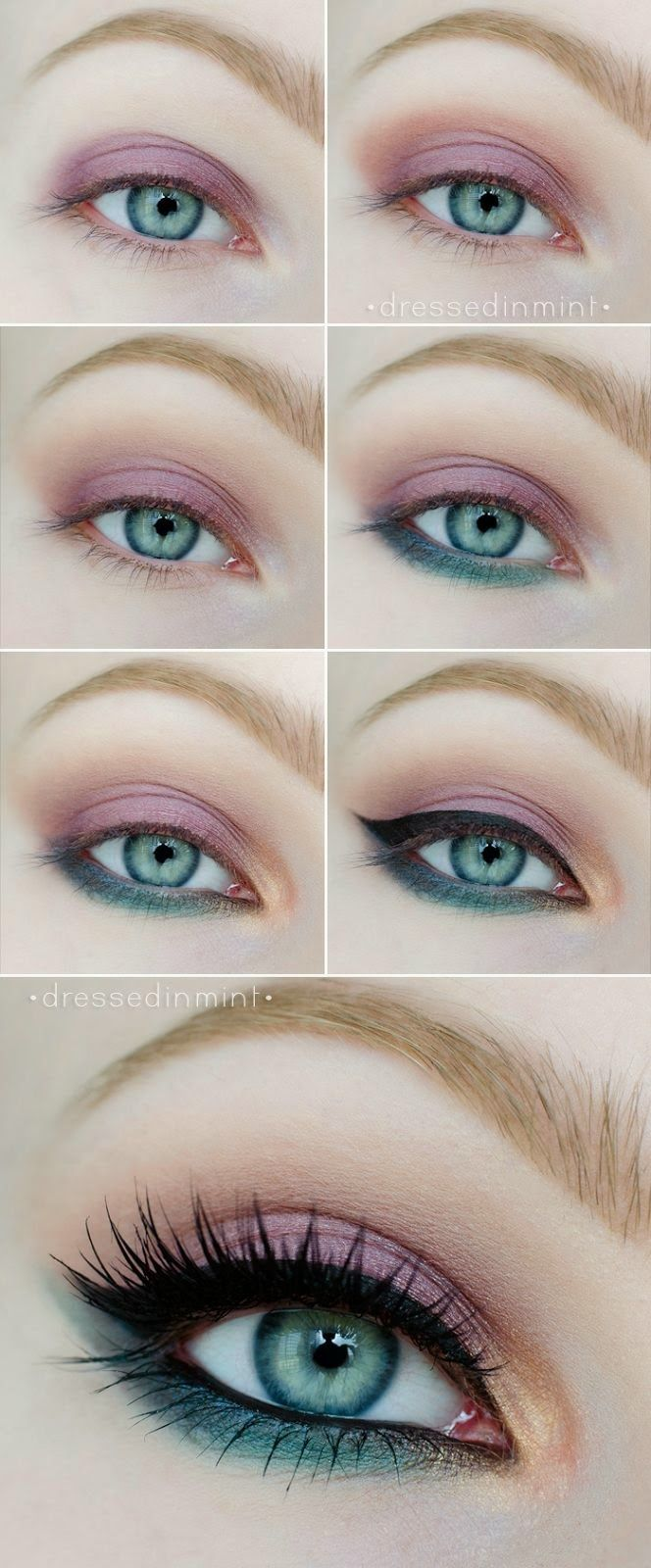 26 easy makeup tutorials for blue eyes | styles weekly