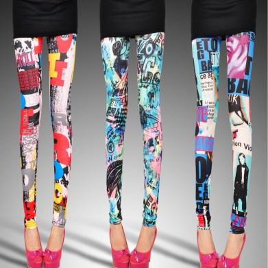 Artistic print leggings
