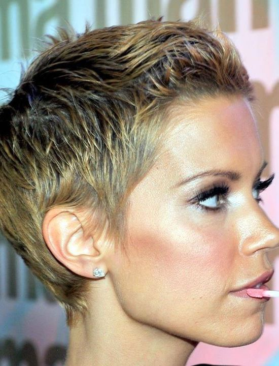 Super Short Slick Wet-Cut Hairstyle