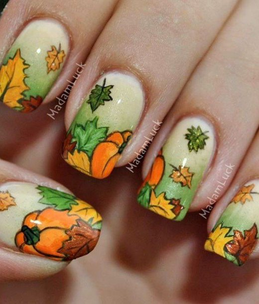 Nail Design for Thanksgiving
