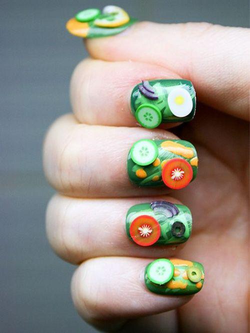 3D Food Nail Design