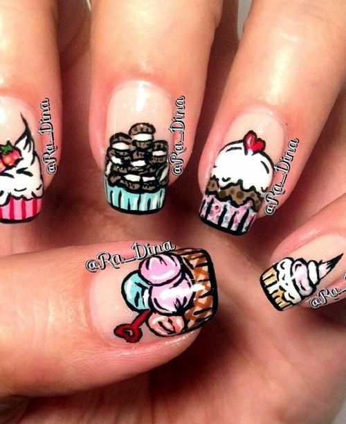 Lovely Ice Cream Nails