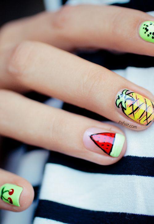 Pretty Fruit Nail Design