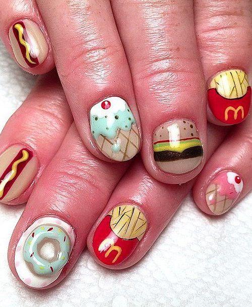Sweet Doughnut Nail Designs