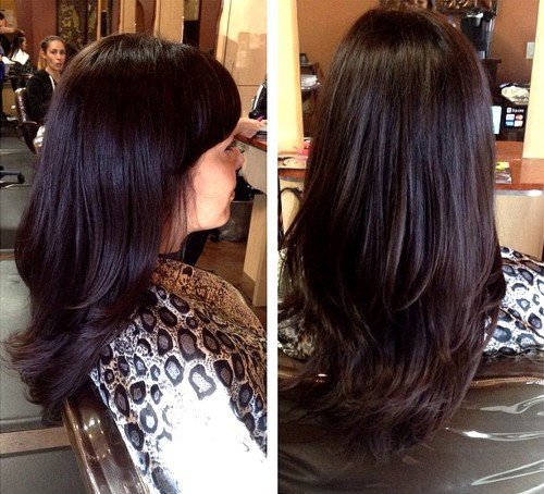 Black hair with chocolate brown highlights pictures the best best 25 dark underneath hair ideas on color for ash brown highlights pmusecretfo Images
