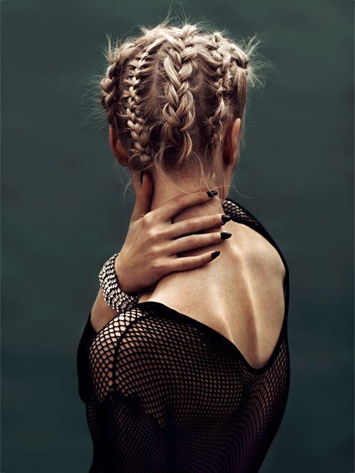 Cornrow Style Dutch Braided Updo Hairstyle