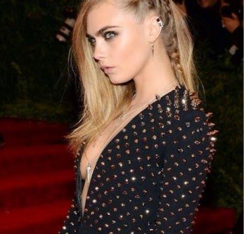 Cara Delevingne Stunning Cornrow Braided Hairstyle