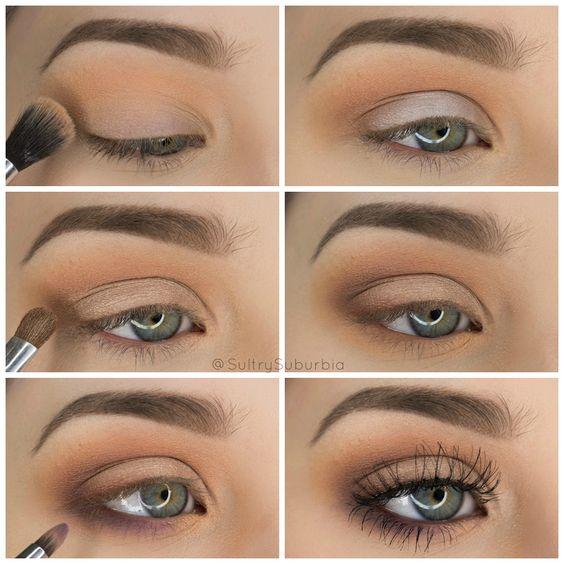 Eyeshadow tutorial for brown eyes step by