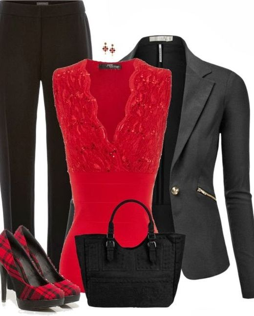 Red and Black Ensemble