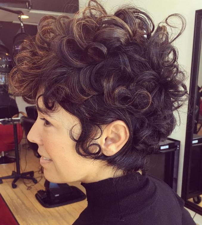 25 lively short haircuts for curly hair – short wavy curly
