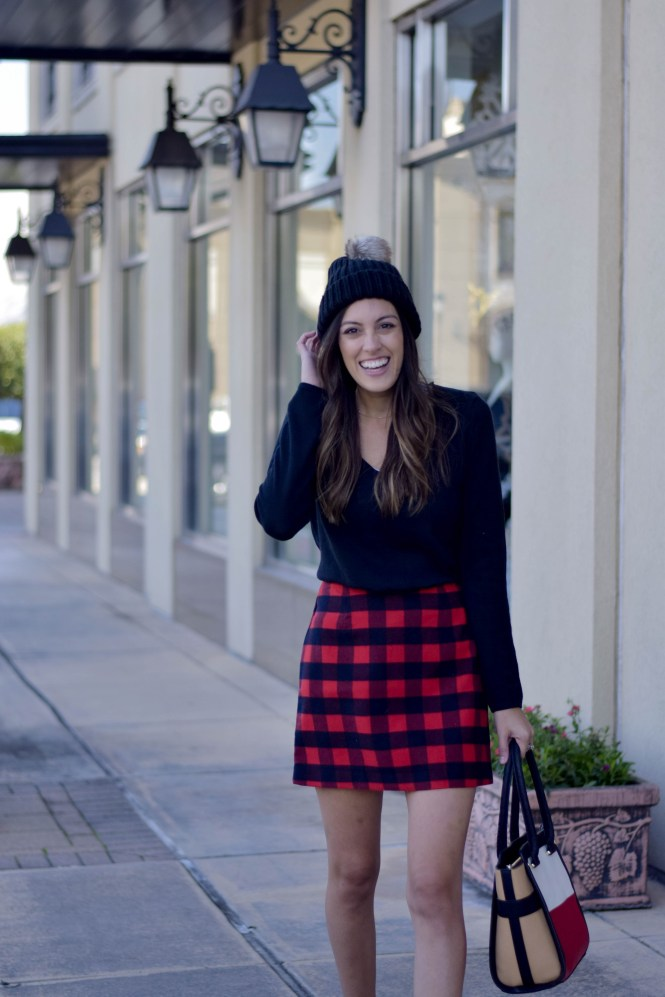 Style The Girl Red Buffalo Skirt