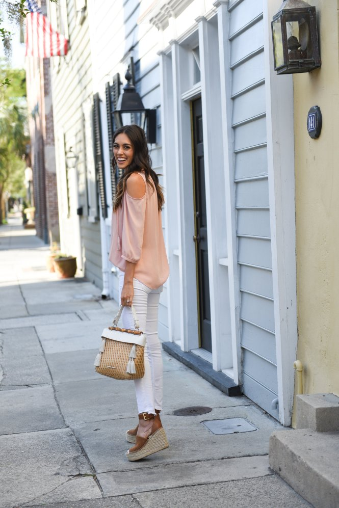 Style The Girl Pink Cold Shoulder Top with Elaine Turner