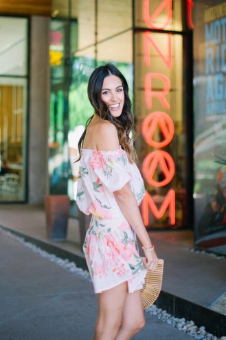 Style The Girl Off The Shoulder Ruffled Mini Dress