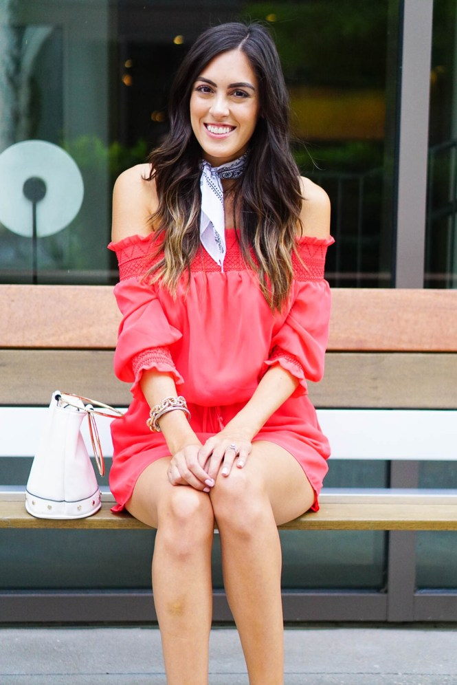 Style The Girl Fourth of July Red Romper
