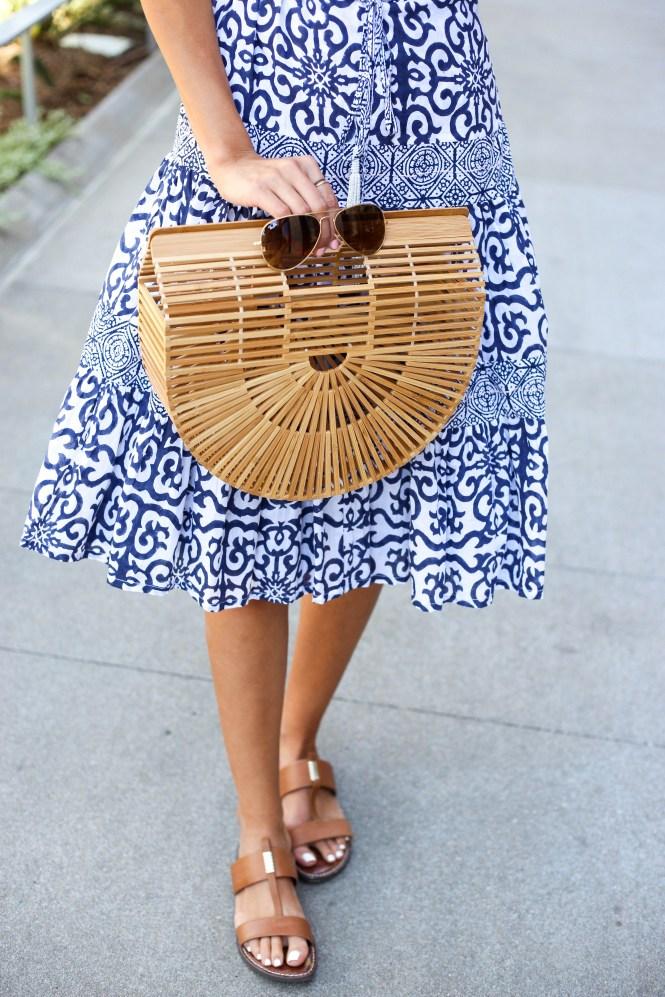 Style The Girl Roberta Roller Rabbit Blue Midi Dress