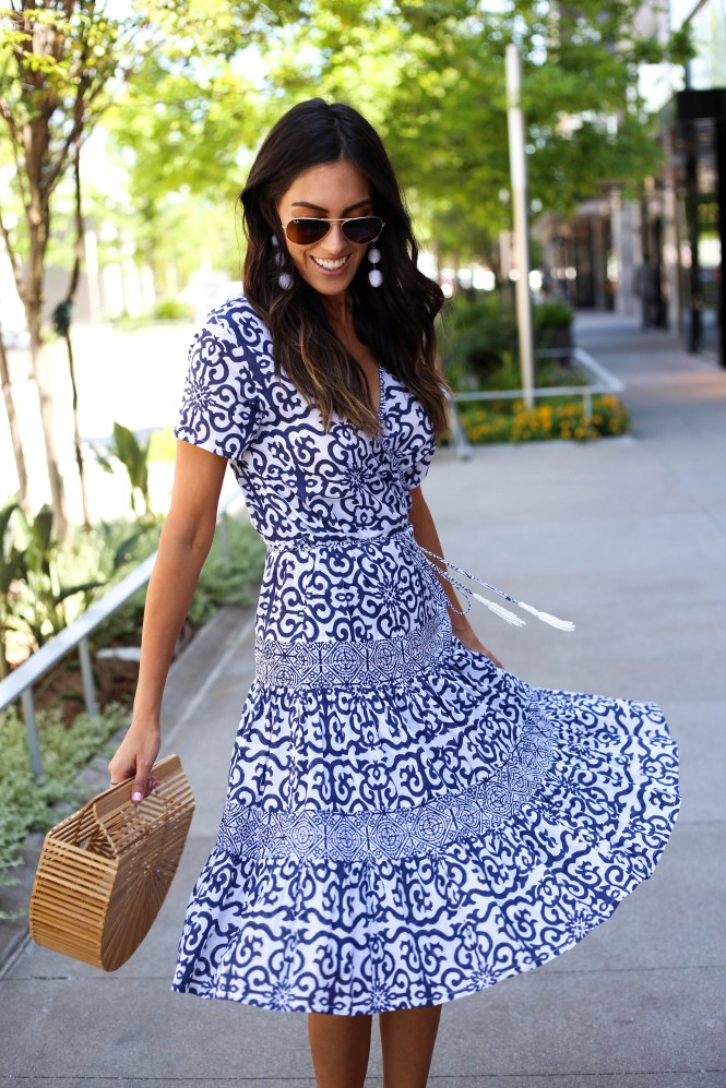 Style The Girl Roberta Roller Rabbit Blue Midi Dress