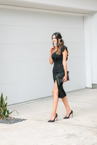 Style The Girl Black One Shoulder Date Night Dress