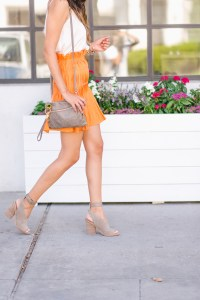 Style The Girl Orange Mini Skirt