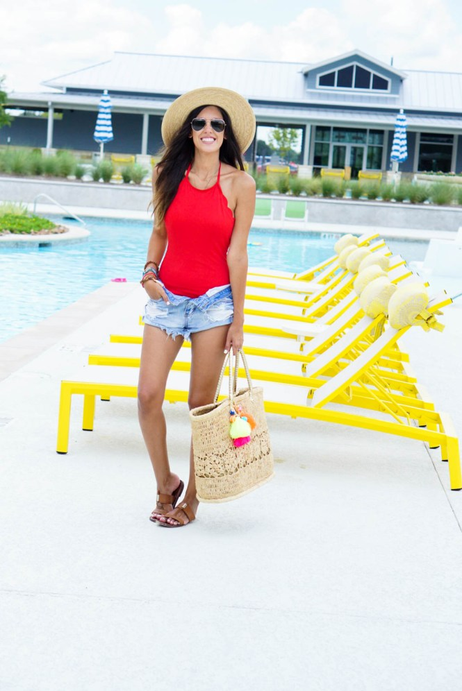 Style The Girl Red One Piece Swimsuit