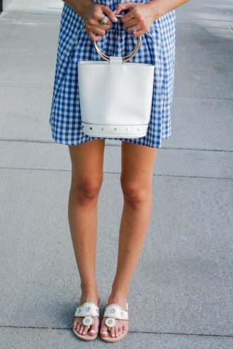 Style The Girl Blue Gingham Dress
