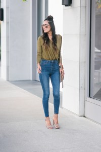 Style The Girl Green Bodysuit