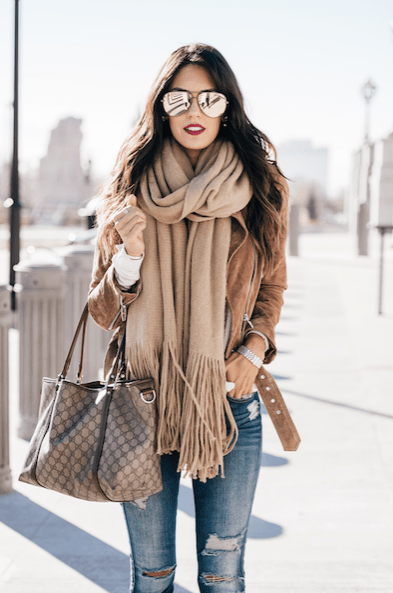 Style The Girl Fringe Scarf Winter Style