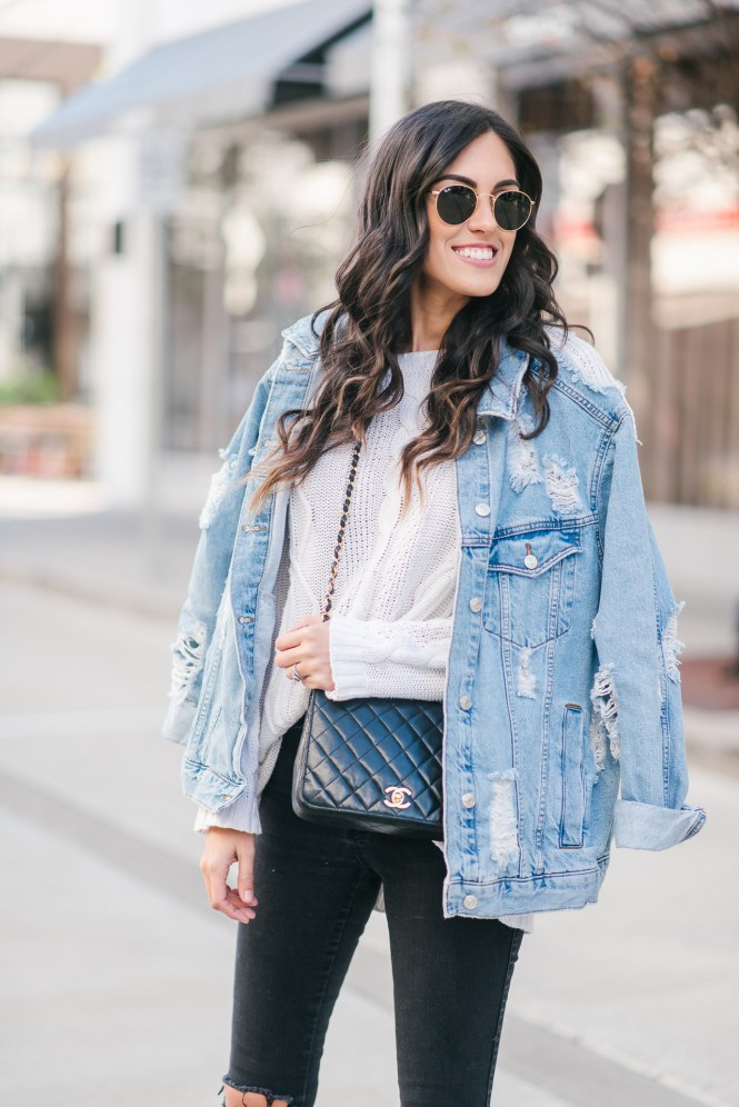 How To Wear The Oversized Denim Jacket Trend