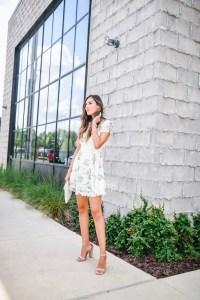 Chicwish Wildflower Fresh Crochet Flare Dress