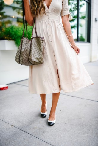 Chicwish Linen Midi Dress