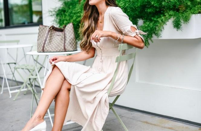 Chicwish Linen Midi Dress