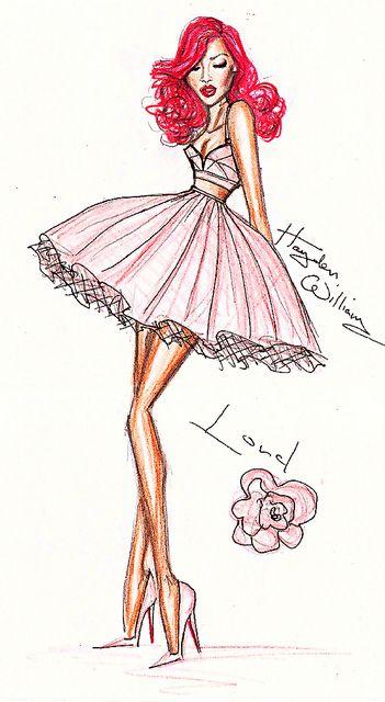 21 rihanna fashion illustration - 30+ Cool Fashion Sketches