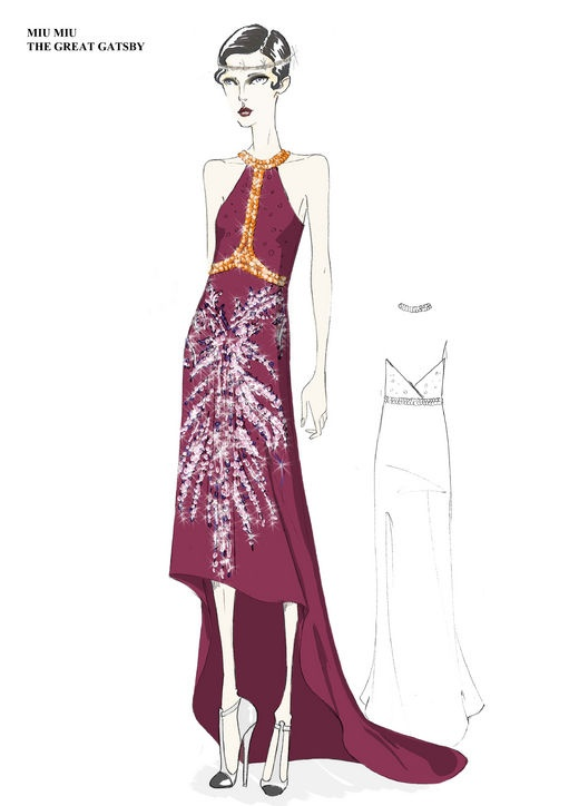 23 prada sketches for the great gatsby - 30+ Cool Fashion Sketches