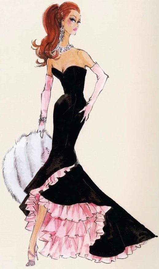 25 barbie sketch wall calendar - 30+ Cool Fashion Sketches