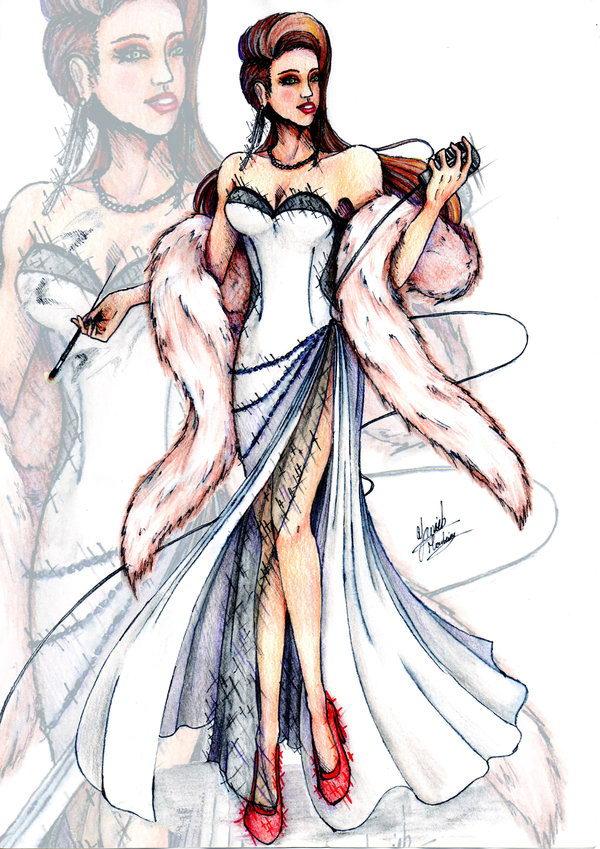 32 fashion sketch by yanick monteiro - 30+ Cool Fashion Sketches